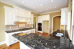 Black Granite kitchen white cabinets - Youngstown Youngstown