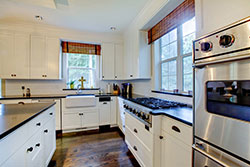black granite white cabinets Granite kitchen - Youngstown Youngstown